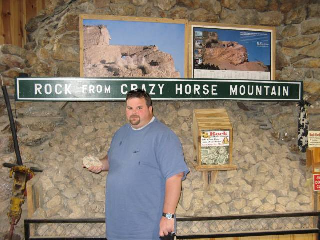 Gus with free Crazy Horse rocks