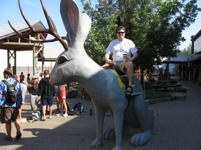Scott on giant jackalope