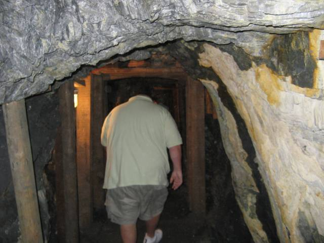 Gus in gold mine