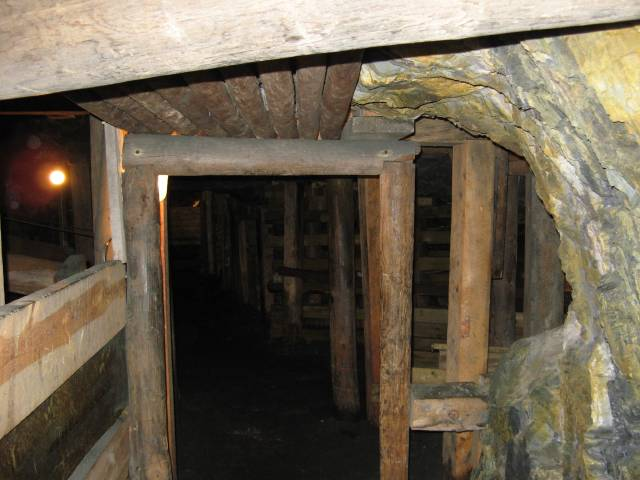 Gold mine shaft