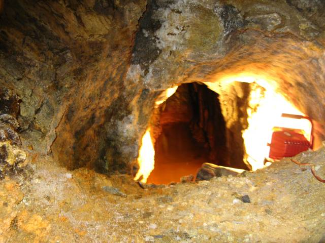 Water in gold mine
