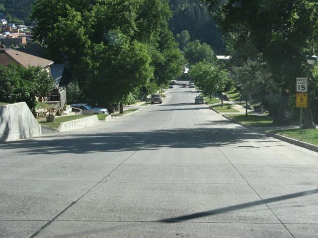 Steep Deadwood hill
