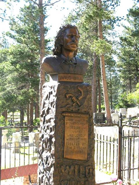 Wild Bill Hickok's grave marker