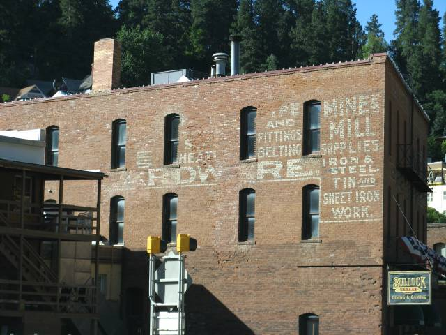 Ad on side of building