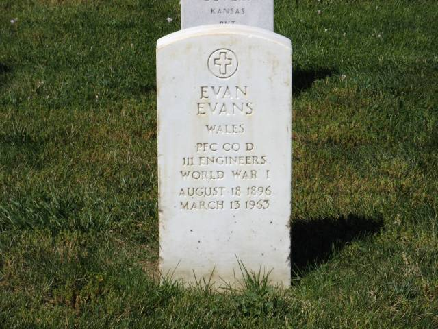 Evan Evans in Custer National Cemetery
