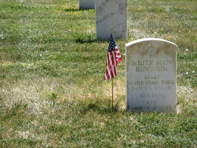 White Man Runs Him in Custer National Cemetery