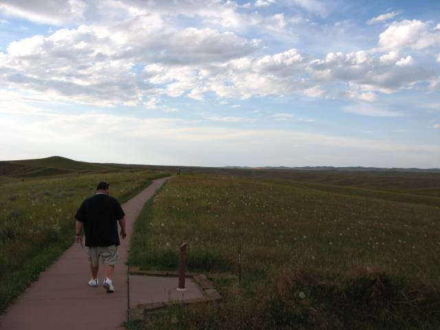Gus at Little Bighorn Battlefield