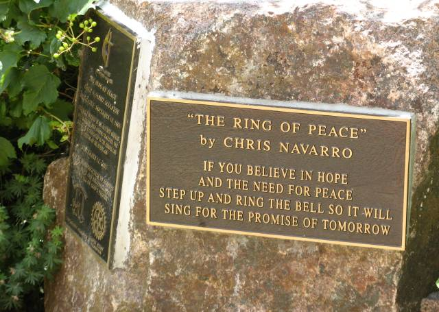Ring of Peace plaque